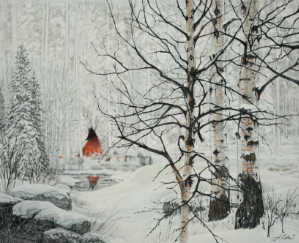 """Red Lodge"" - 16x20 by Julie Kramer Cole, Limited Edition Giclee on Paper"