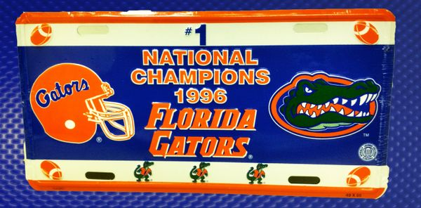 Gator Front License Plates - 96 FB Champions