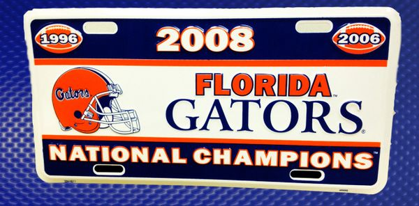 Gator Front License Plates - 3 Time Football Champions