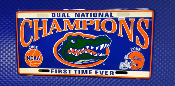 Gator Front License Plates - 06 Football and Basketball Champions