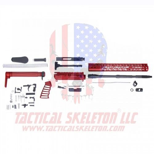 AR-15 5.56 CAL COMPLETE AIRLITE SERIES RIFLE KIT (NO LOWER)(RED)