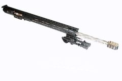 """24"""" 308 DPMS AR10 Stainless Steel Diamond Fluted Complete Upper W/ BIPOD"""