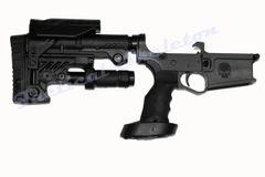 AR-10 308, 6.5 Creedmoor Complete Billet Lower Receiver Black with CAA-ARS Stock