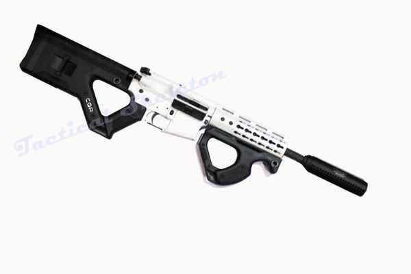 "16"" 300 Blackout STORM TROOPER Custom ARTIC WHITE AR-15 with CQR STOCK & GRIP"