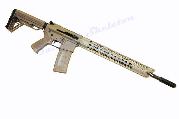 "18"" AR-15 223 Wylde Spiral Fluted Stainless Side Charger SHARK FDE TAN CUSTOM"