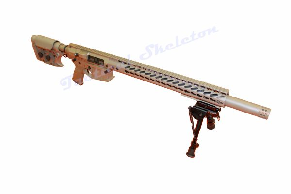 "20"" 308 FDE Custom AR-10 with HOGUE Furniture and 16.5"" Free Float Keymod Handguard"
