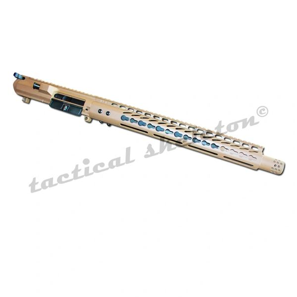 "20"" FDE 308 DPMS Complete Upper with 16.5"" SLIM Keymod Handguard"