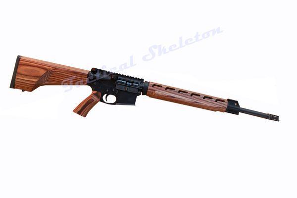 "20"" AR-15 6.5 GRENDEL Straight Fluted Custom Nutmeg Furniture"