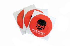 "Tactical Skeleton 3"" Decals (set of three) RED Background"