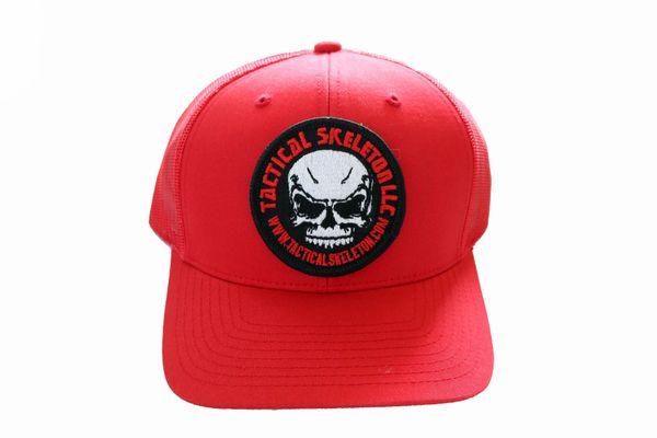 Tactical Skeleton Red Trucker HAT