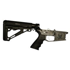 Tactical Skeleton Billet AR15 RIFLE COMPLETE LOWER HOGUE
