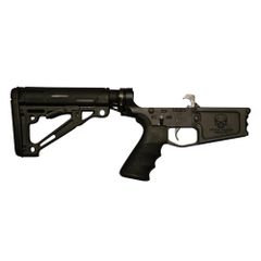 Tactical Skeleton Billet AR10 DPMS RIFLE COMPLETE LOWER HOGUE