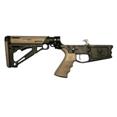 Tactical Skeleton Billet AR10 DPMS TWO TONE RIFLE COMPLETE LOWER HOGUE