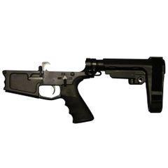 Tactical Skeleton Billet AR10 DPMS PISTOL COMPLETE LOWER SBA3