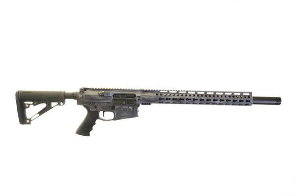 """20"""" 308 AR-10 BILLET CUSTOM BATTLE WORN GREY RIFLE"""