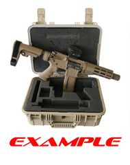 "DESIGN YOUR OWN 16"" PISTOL Waterproof Hard Case w/ Custom Laser CUT Foam inserts BLACK / FDE / OD GREEN"