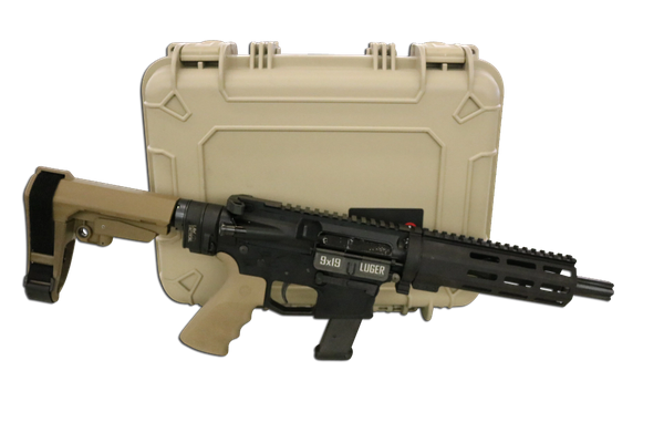 "7.5"" 9MM DEDICATED GLOCK MAG FDE TAKEDOWN AR9 PISTOL PACKAGE"