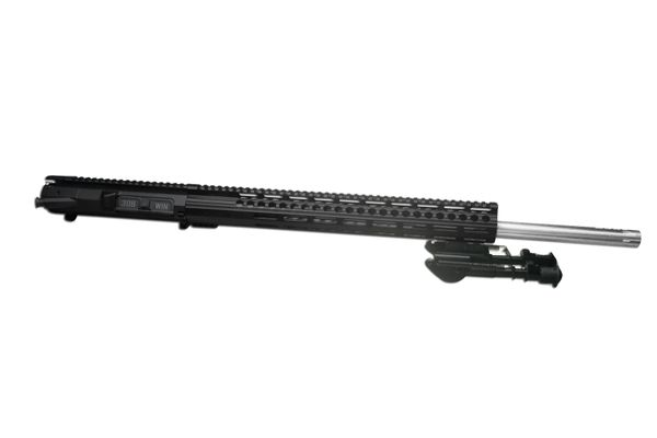 """24"""" 308 Stainless Steel DPMS AR10 Straight Fluted Complete Upper W/ 16.5"""" MLOK & BIPOD"""