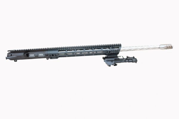 "24"" 308 DPMS AR10 Stainless Steel Diamond Fluted Complete Upper W/ BIPOD - MLOK System"
