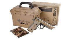 """BERETTA M9A3 FS 9MM 5.2"""" NS 17-SHOT THREADED TAN ITALY"""