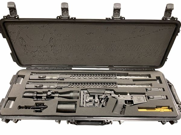"""24"""" 338 FEDERAL & 24"""" 308 WIN CUSTOM DPMS AR10 SYSTEM DIAMOND FLUTED STAINLESS"""