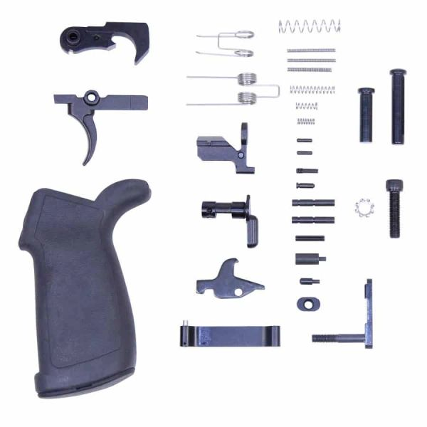 AR .308 COMPLETE LOWER PARTS KIT WITH ERGONOMIC PISTOL GRIP