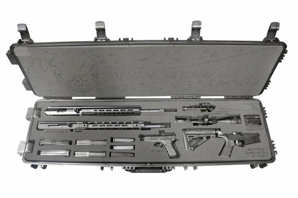 Tactical Skeleton AR 10 3 Gun Kit [12 Gauge,.308 WIN, Glock 19]