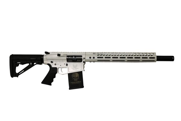 """18"""" AR10 DPMS RIFLE .308 WIN WITH A 16.5"""" MLOK HANDGUARD IN STORM TROOPER WHITE"""