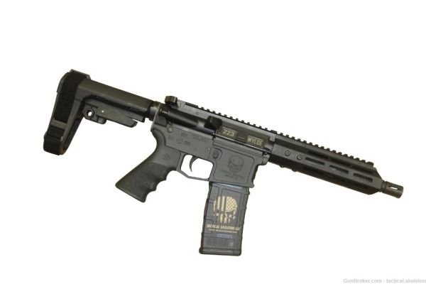 """7.5"""" 223 WYLDE / 300 BLACKOUT AR-15 PISTOL W/ SBA3 BRACE"""