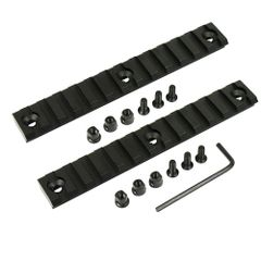 2 Pcs Keymod Picatinny Weaver Rail 13 Slot 5 inch