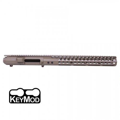"AR .308 CAL STRIPPED BILLET UPPER RECEIVER & 16.5"" ULTRALIGHT SERIES KEYMOD HANDGUARD COMBO SET (FLAT DARK EARTH)"