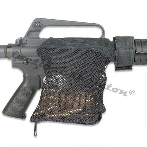 BLACK 5.56mm .223cal Brass Catcher Mesh Shell Trap Zipper Closure