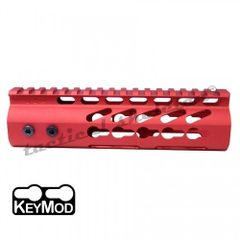 "7"" RED 223 556 300 ULTRA LIGHTWEIGHT THIN KEYMOD FREE FLOATING HANDGUARD"