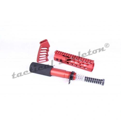 AR15 PISTOL FURNITURE SET (RED)