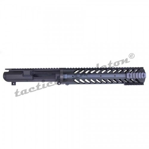 "AR .308 CAL STRIPPED BILLET UPPER RECEIVER COMBO WITH 12"" FREE FLOATING HANDGUARD WITH SECTIONAL RAILS"