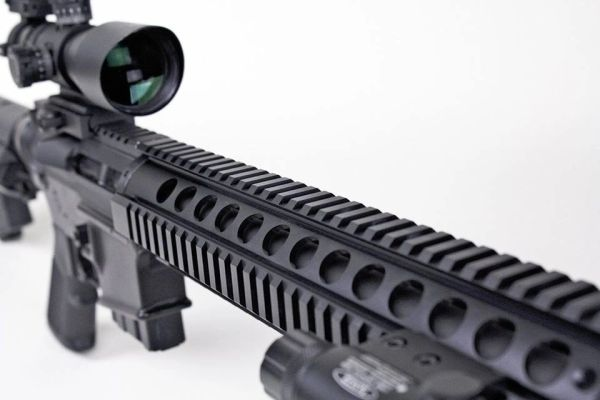 "15"" free float quad rail handguard 15"" picatinny mount 223/556/300BLK"
