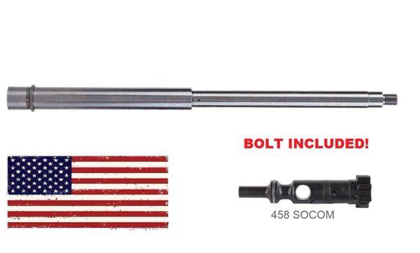 "AR-15 BARREL: 16.5"" 458 SOCOM Stainless Steel 1:14 TWIST"