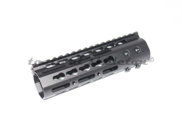 """7"""" ultra slim black keymod rail handguard free float 223/556/300blk"""