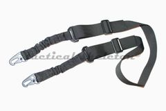 Tactical one or two point rifle sling w quick detach hooks BLACK