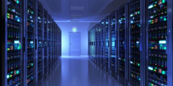 Server Room Showing Cloud Computing Technology