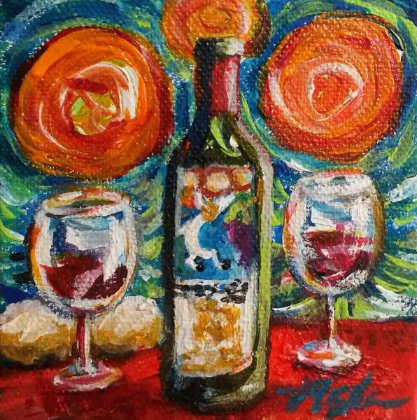 """Sunshine on My Wine Shoulders"" SOLD"