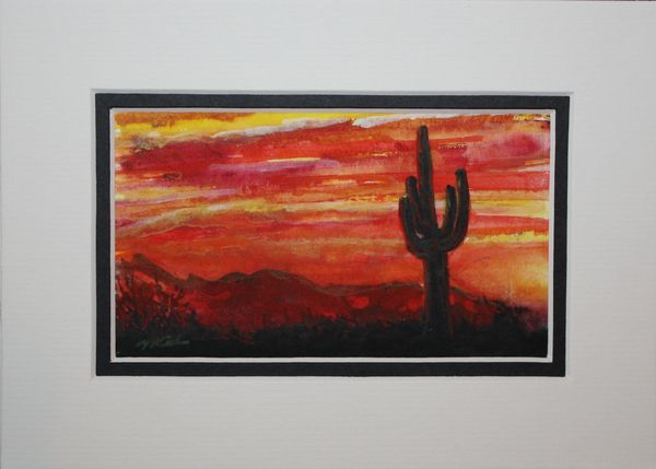 """Saguaro Sunset #3"""