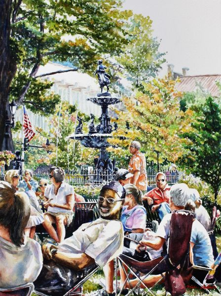 """A Successful Photobomb-Fountain Square Park"" SOLD"