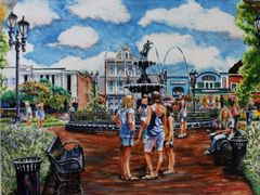 """Girl Talk in Fountain Square Park"" sold!!"