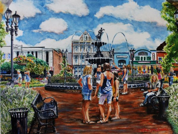 """Girl Talk in Fountain Square Park"" sold!!"