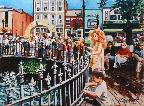 """Little Red Headed Girl at Fountain Square Park"""