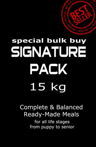 """Signature Pack"" ORIGINAL (Toy to Giant Breeds 15 kg Pack/Multi Dog Owners)"