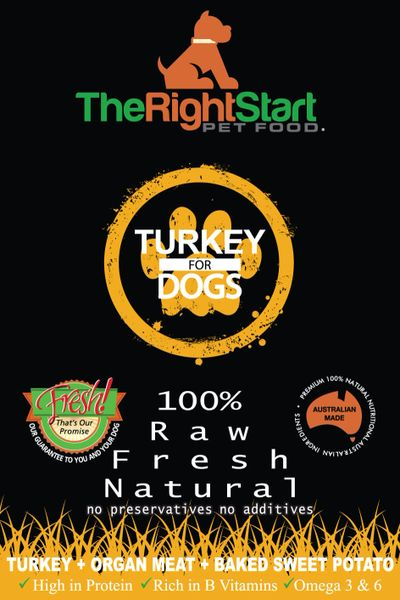 """Puppy & Small Dog Pack"" TURKEY 12 x 500g Packs"