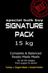 """Signature Pack"" TURKEY (Toy to Giant Breeds 15 kg Pack/Multi Dog Owners)"