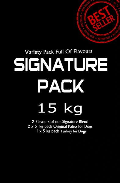 """Signature Pack"" 2 flavours (Toy to Giant Breeds 15 kg Pack/Multi Dog Owners"